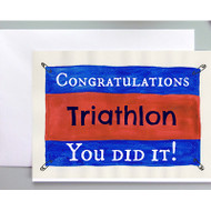 Congrats on your Triathlon! Greeting card for triathletes.