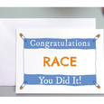 Congrats on your race greeting card for Runners or Triathletes.