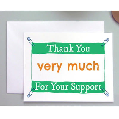 Thank You For Your Support Greeting Card Milestones Sports Jewelry