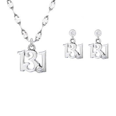 13.1 mini necklace and earrings set.