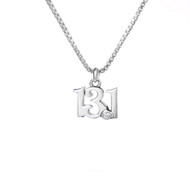 13.1 Sterling  Silver Mini Charm Necklace