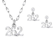 26.2 mini necklace and earrings set.