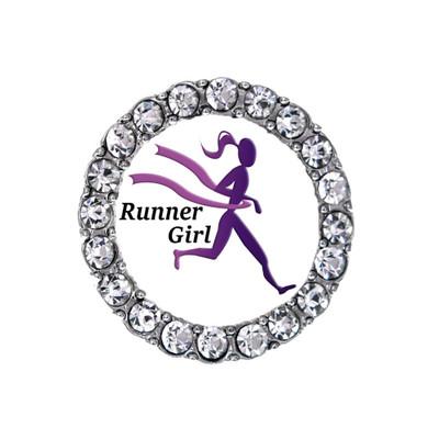 Runner Girl Shoelace Charm