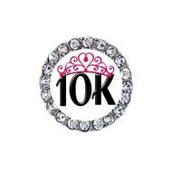 10K tiara running sneaker charm