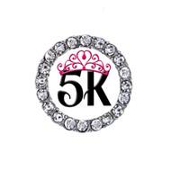 5K tiara running sneaker charm