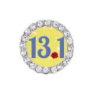 13.1 Half marathon Beauty & the Beast Princess Belle running sneaker charm