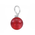 Red round gemstone dangle.