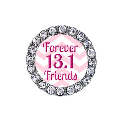 Front view of 13.1 Forever Friends sneaker charm.