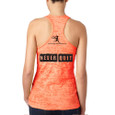Never Quit Neon Orange Burnout tank Back view