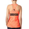 Never Quit Neon Orange Burnout tank Back view