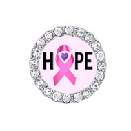"Breast Cancer ""Hope"" Pink Sneaker Charm"