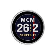 Marine Corps Marathon Sneaker Charm - Black Rim
