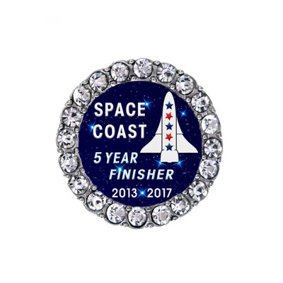 2017 Space Coast 5 year Intergalactic Challenge Finisher Sneaker Charm