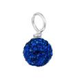 royal blue pave crystal loose bead