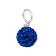 royal blue pave crystal loose bead