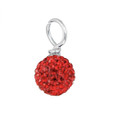 red pave crystal round drop
