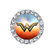 Modern wonder woman sky on fire sneaker charm
