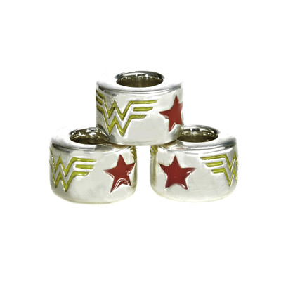 Wonder Woman Sterling European Bead three stack