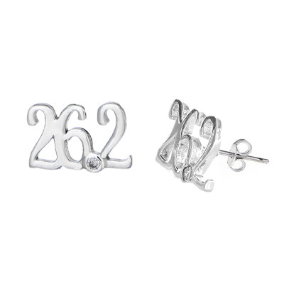 26.2 mini script stud earrings.