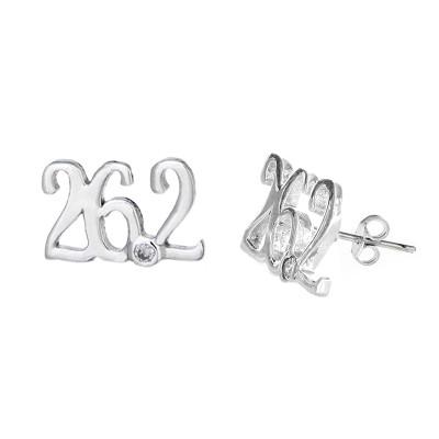 26.2 mini script stud earrings.