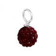 Garnet Dark Red Pave Bead
