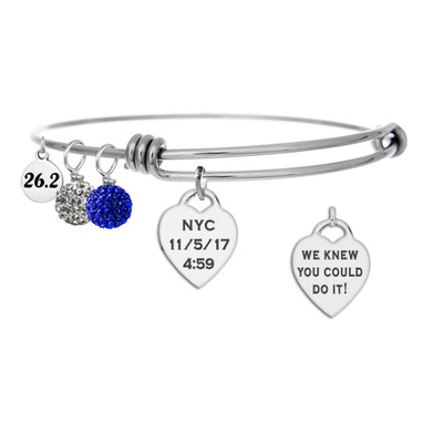 NYC Marathon custom envgraved bangle
