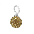 Gold Pave Bead