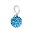 Light Sky Blue Pave Bead
