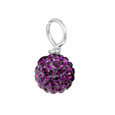 Purple Pave Bead
