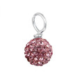 Rosaline Pink Pave Bead