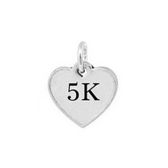 5K Heart Mini Pewter Charm
