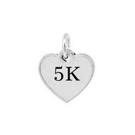5K Heart Mini Pewter Charm