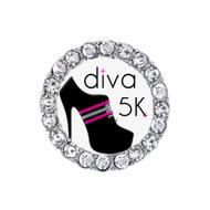 Running Diva 5K Rhinestone Sneaker Charm