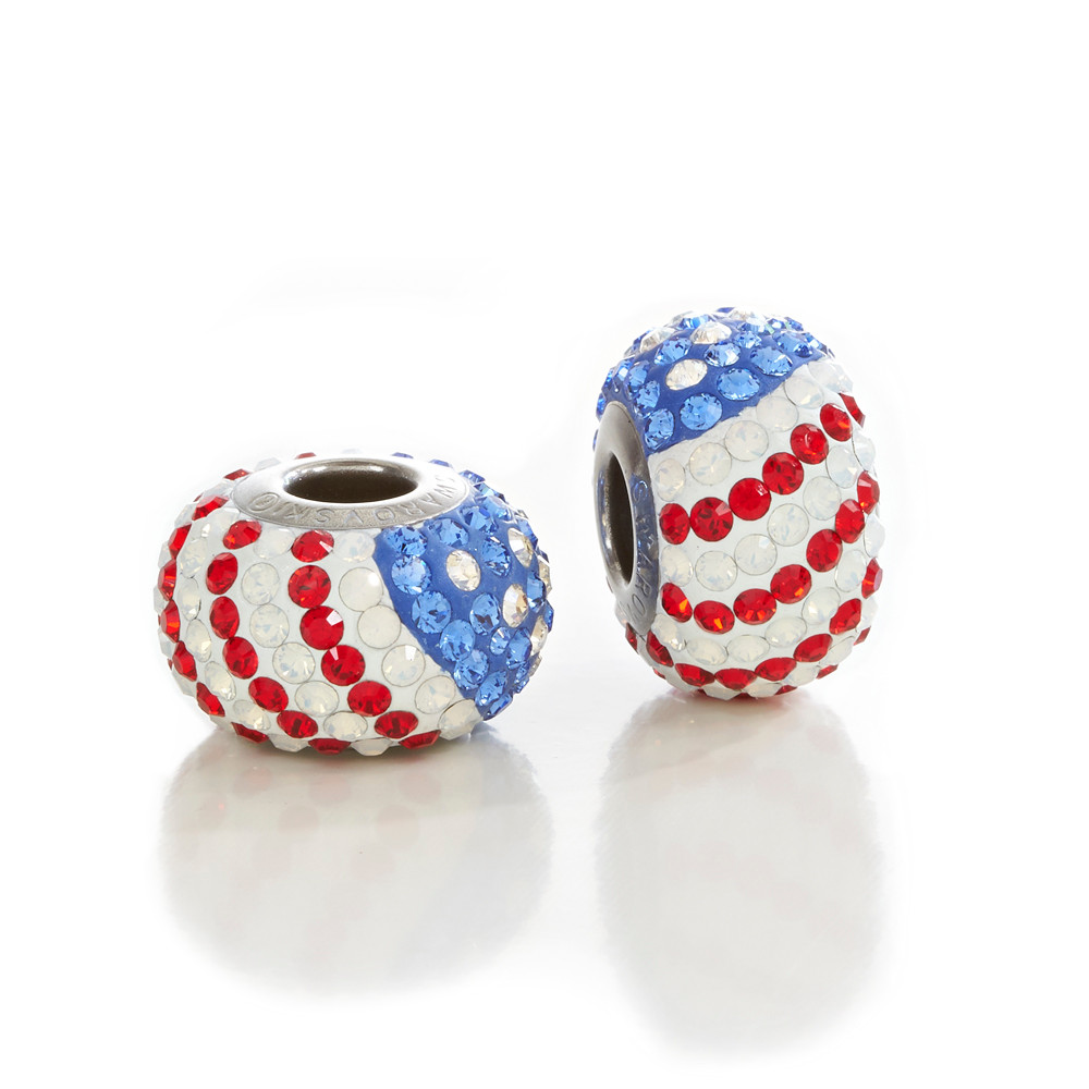b1e18b09e6af1 USA Swarovski Crystal Beads Red, White, Blue