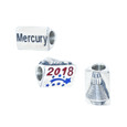 2018 Space Coast Mercury European bead. 3 sided bead show the year 2018, the word Mercury, and a raised shuttle on the 3rd side.