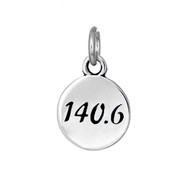 140.6 Ironman Round sterling silver charm.