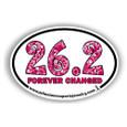 26.2 forever changed marathon bumper sticker for car