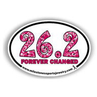 26.2 forever changed marathon bumper sticker for car