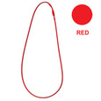 Red rubber stretchy cord necklace