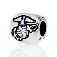 Marine Corp emblem European style bead for Pandora style bracelets.