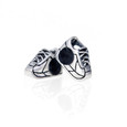 Running shoes beads.