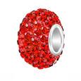 Red Swarovski Crystal bead.