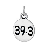 Round sterling silver 39.3 charm