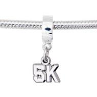 5K charm on a dangle bead