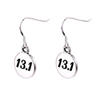 13.1 sterling silver round earrings.