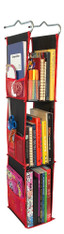 LockerWorks Hanging Organizer - Black/red
