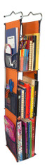 LockerWorks Hanging Organizer - Orange/navy blue
