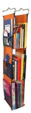LockerWorks Hanging Organizer - Orange/navy blue