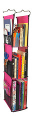 LockerWorks Hanging Organizer - Fuchsia/black