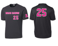 NEVADA ROAD DAWGS YOUTH CANCER AWARENESS JERSEY WITH NUMBER